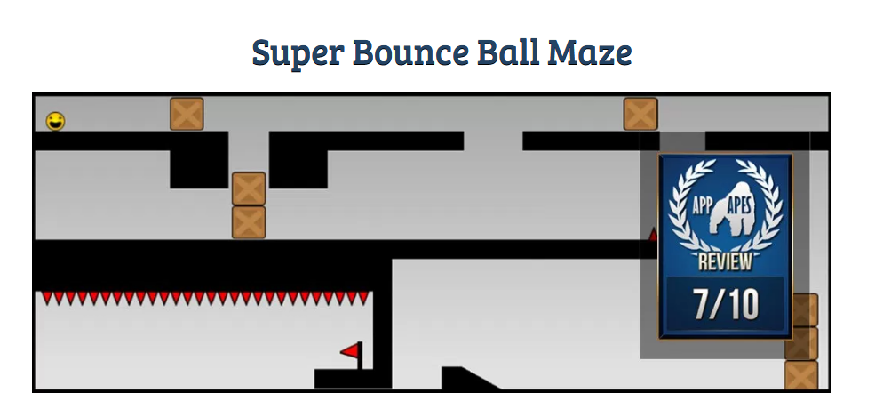 Super Bounce Ball Maze review. iPhone, iPad, iOS, Android, Windows Phone