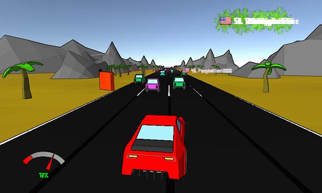 Pixel Driver Race in Traffic